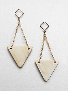 Kora Pyramid Horn Drop Earrings