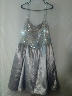 Custom Prom Homecoming spring Formal Dress Sequin silk Tulle Plus size Junior FF