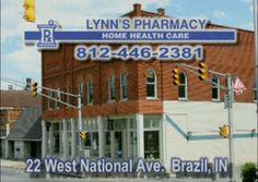 Lynn's Pharmacy in down town Brazil has an old fashioned soda fountain.