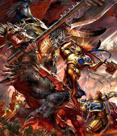 Khorne Deamon vs Eternal Stormcast in Warhammer Age of Sigmar