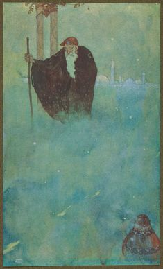 Stories from the Arabian nights retold by Laurence Housman; with drawings by Edmund Dulac (London: Hodder and Stoughton, 1907).