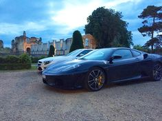 Gorgeous Evening In France #chateau #france #ferrari #f430 #430 #mercedes