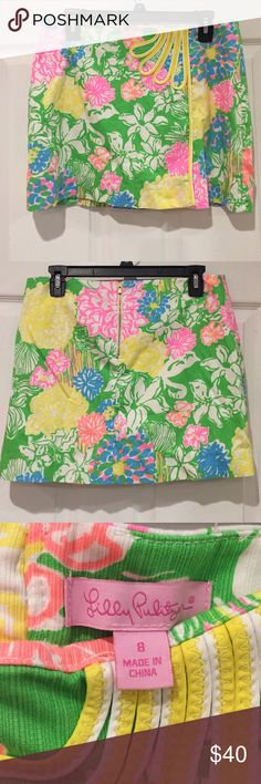 Hibiscus Stroll Size 8 Skort Size 8 Lilly Pulitzer Hibiscus Stroll skort. Worn twice and now it doesn't fit me anymore. In great condition! Lilly Pulitzer Shorts Skorts