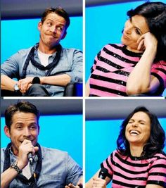 How cute are these two characters together?! Luv Sean Maguire  Lana Parrilla in #OUAT