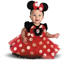 Disney Red Minnie Mouse Infant Costume                                                                                                                                                                                 Más