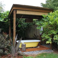 What to do with the old bathtub in the side yard!