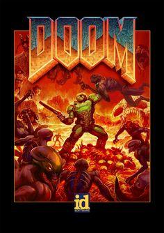Doom Retro/Modern Fusion Poster!