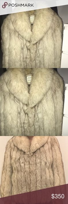 Beautiful luxurious Fox Fur Coat I am selling a Saga Premium Collection Fox Fur Coat. Size is small. Natural Blue Fox Fur. Lining is 100% Bemberg F Yarn Woven. Origin Finland. This Coat is final sale. Saga Furs Jackets & Coats