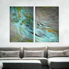 Extra large wall art Original Large Abstract by ArtbyHeroux, $475.00