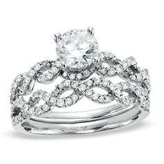 I would love just the band as my engagement ring, with a smaller twist ring for the wedding