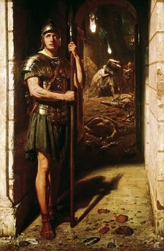 Faithful unto death. 1865. Sir Edward John Poynter. English.1836-1919.