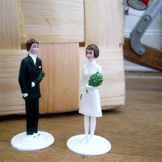 Confirmation Couple. These would be funny cake toppers.