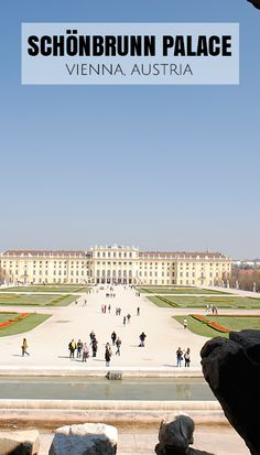Beautiful gardens of Schonbrunn Palace in Vienna, Austria.