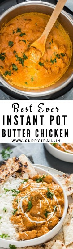 Instant Pot butter chicken is the ultimate comfort food in Indian cuisine. We love to call it decadent butter chicken curry. Butter. Chicken. That's enough said, explains it all why the world loves butter chicken. Can there be anything better than chicken cooked in rich butter! Make restaurant style Instant Pot butter chicken with authentic taste following this Indian butter chicken recipe