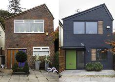 - House, Forest Hill - David Money Architects Modernising the facade Home Exterior Makeover, Exterior Remodel, Exterior Doors, Exterior Cladding, Building Exterior, House Cladding, Facade House, House Exteriors, House Facades