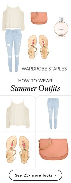 """""""Summer outfit """" by truebella-1 on Polyvore featuring Elizabeth and James, River Island, Michael Kors, Lilly Pulitzer, Chanel and WardrobeStaples"""