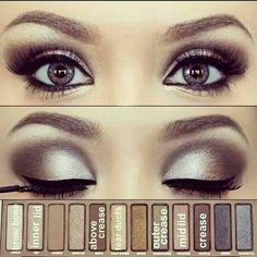 For brown and hazel eyes. Inspiration for dance competition/recital (after some age-appropriate tweaks for younger dancers so it isn't quite so heavy). FYI - the link to the video doesn't show this look, but it's another earth toned eye makeup video that could also work for dance.