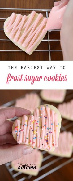 Great tip! You can frost a whole batch of sugar cookies in no time with this simple method (and all you need is a plastic sandwich bag!).