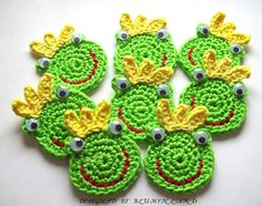 """Frog Prince Appliques""...lots of cute applique inspiration here!"