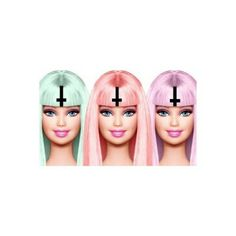 barbie dolls go pastel <3