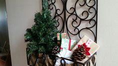 Christmas decorations hall planter!