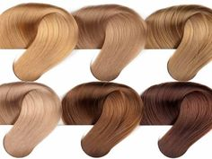 golden blonde hair color chart swatches