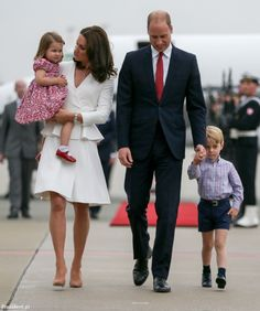 The Cambridges' long awaited royal tour of Poland and Germany kicked off in style today as they arrived in Warsaw with Prince George and Pri...