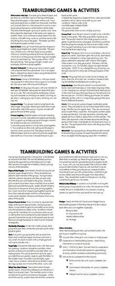 Team Building Games & Activities