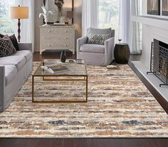 Kick off your shoes & settle in with an area rug by Scott Living Home Product shown: Expressions by Scott Living - . Interior Styling, Interior Design, Hardwood Floors, Flooring, Custom Rugs, Living Room Grey, Elegant Homes, Home Look, Window Coverings