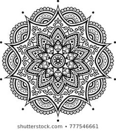 Mandala pattern black and white good mood - compre este vetor na Shutterstock e encontre outras imagens. Mandala Art Lesson, Mandala Artwork, Mandala Drawing, Mandala Painting, Mandala Tattoo, Mandala Coloring Pages, Colouring Pages, Adult Coloring Pages, Arte Mandela