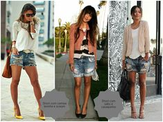 Short jeans e salto