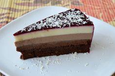 Tort cu mousse de ciocolata Panna Cotta, Cheesecake, Desserts, Tailgate Desserts, Dulce De Leche, Deserts, Cheesecakes, Postres, Dessert