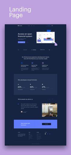 Fortmatic Branding & Ui on Behance Web Design Tips, Best Web Design, Page Design, Flat Design, Squeeze Page, Galaxy Projects, Website Themes, Website Ideas, Modern Website