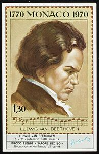 Stamps Drawing - Ludwig Van Beethoven Bicentennial by Mary Evans Picture Library