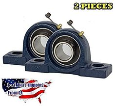 2 Pieces- UCP202-10, 5/8 inch Pillow Block Bearing Solid Base,Self-Alignment, Brand NEW!