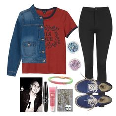 """Halsey concert with Mikey"" by crazydirectionergirl ❤ liked on Polyvore featuring Monki, Topshop, Carolina Bucci, Vans, Lancôme and NYX"