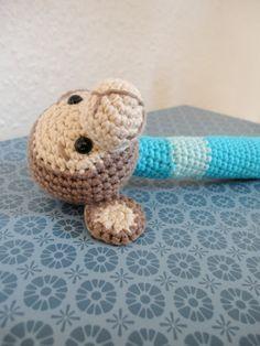 Den lilla elefant: hæklet abe-rangle