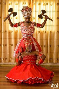Shango/Xangô, Orisha of thunder, and his wife Oyá/Iansã, Orisha of storms. Oya Goddess, Orishas Yoruba, African Mythology, Yoruba Religion, Yoruba People, Black Art Pictures, Warrior Queen, African American Art, Black Women Art