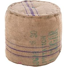 Decorative Mayle Tan Pouf | Overstock.com Shopping - The Best Deals on Throw Pillows