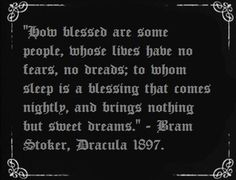 Blessed Dracula quote