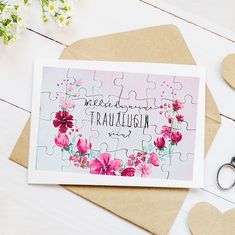 """Puzzle """"Do you want to be my maid of honor?"""" 24 parts – heart mail - Heiraten Wedding Beauty, Diy Wedding, Wedding Events, Lace Wedding, Wedding Dress, Invitation Cards, Invitations, Seating Chart Wedding, Wedding Quotes"""