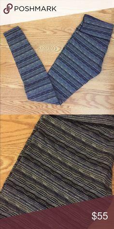 New Lululemon blue pattern leggings Authentic Lululemon, bought and never wore  secret internal pocket on the left front lululemon athletica Pants Leggings