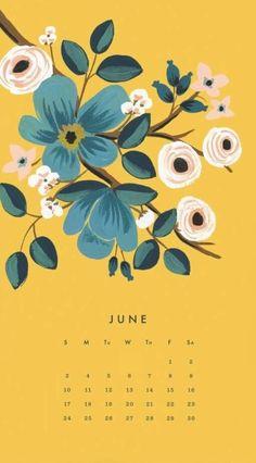 June 2018 iPhone Calendar Wallpapers