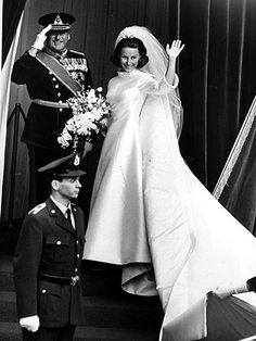 45th wedding anniversary of King Harald V of Norway and Sonja Haraldsen; married at Olso Cathedral on August 29, 1968