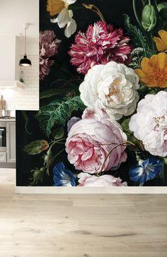 Large Floral Wallpaper, Flower Wallpaper, Pattern Wallpaper, Floral Wallpapers, Flower Mural, Flower Prints, Amazing Paintings, Burke Decor, Home Wallpaper