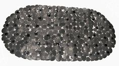 Royal Bath Anti Slip Vinyl Pebbles Bath Tub Mat (14 inch x 27 inch ) - Black