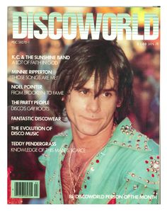 Discoworld Magazine from January 1978, featuring K.C. of K.C. And The Sunshine Band.