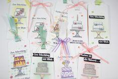 Geburtstagsanhänger mit 'Kuchen ist die Antwort' von Stampin' Up! Crazy Cakes, Piece Of Cakes, Stampin Up, Catalog, Material, Stamp Sets, Cards, Muffin, Workshop