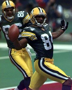 Andre Risen and Antonio Freeman - TOUCHDOWN! Super Bowl XXXI - New Orleans. #nfl #packers #superbowl