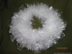 Crystal Wreath, this is made from a wire bent into a circle and sandwich bags knotted around it Christmas And New Year, Christmas Ideas, Christmas Wreaths, 60th Anniversary, Diamond Anniversary, Activity Day Girls, Activity Days, Wreath Crafts, New Years Party